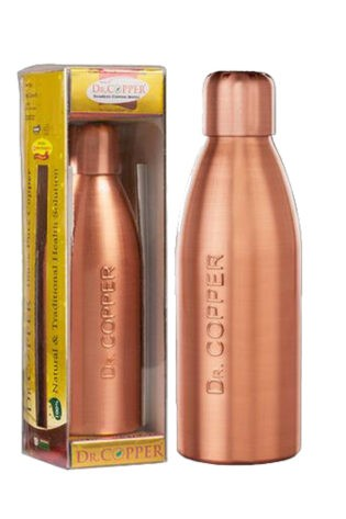 Dr. Copper Water Bottle – 500 ml Single Bottle, 100% Pure Copper(Cu). Perfect choice for children, elderly and fitness lovers.