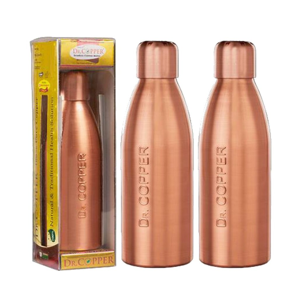 Dr. Copper Water Bottle – 500 Ml Pack Of 2